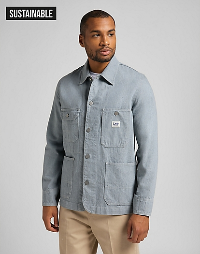 Box Pocket Loco Jacket in Rinse