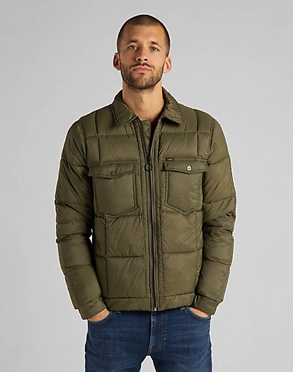Chetopa Puffer Jacket in Olive Green