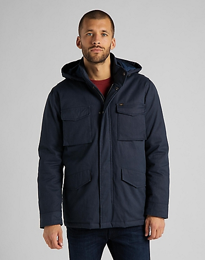 Winter Field Jacket in Sky Captain