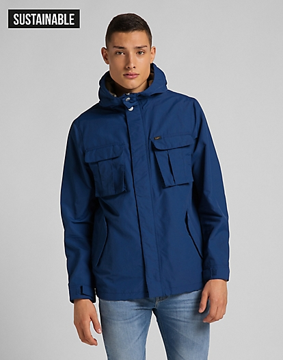 Fisherman Anorak in Washed Blue