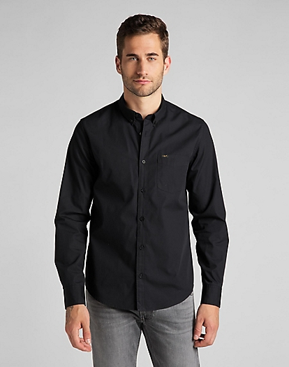 Lee Button Down Shirt in Black