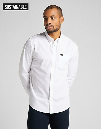 Button Down Shirt in White