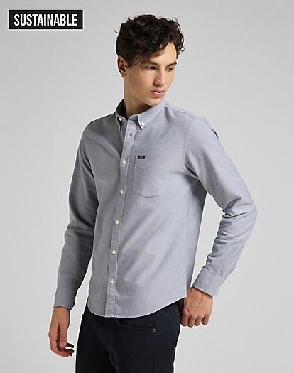 Button Down Shirt in Cloudburst Grey