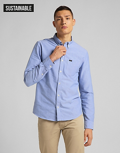 Button Down Shirt in Washed Blue