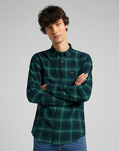 Lee Button Down Shirt in Pine