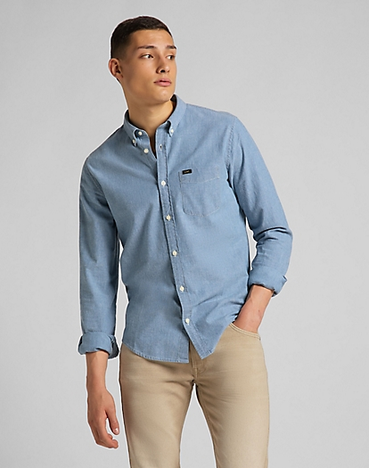 Button Down Shirt in Piscine