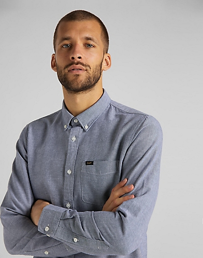 Lee Button Down Shirt in Navy