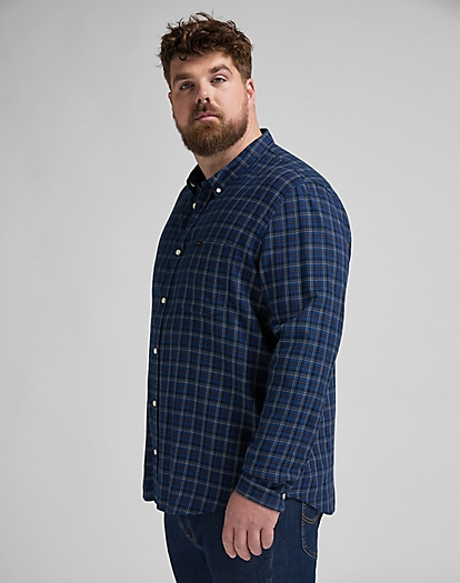 Lee Button Down Shirt in Washed Blue