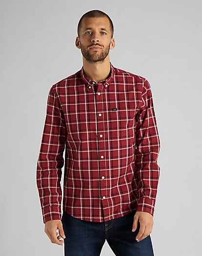 Lee Button Down Shirt in Red Ochre