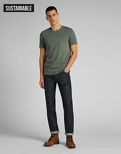 101 Pocket Tee in Laurel Green