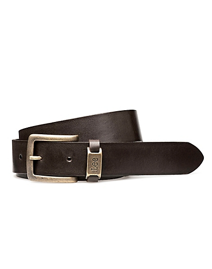 Logo Belt in Dark Brown